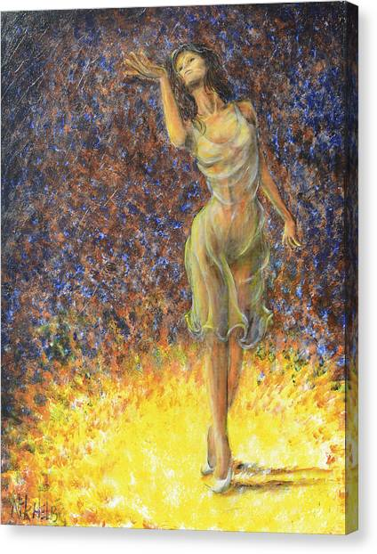 Parting Dancer Canvas Print