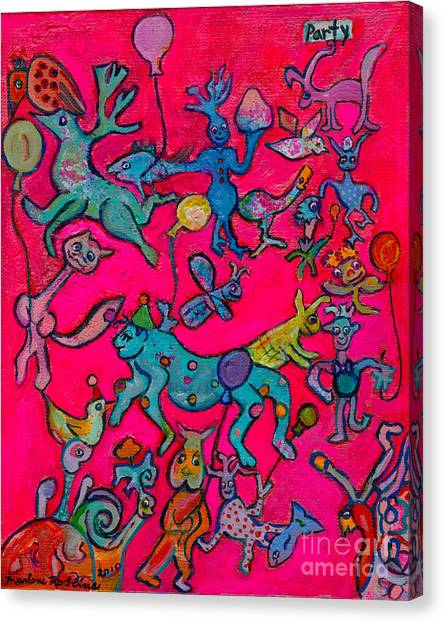 Party Animals Canvas Print by Marlene Robbins