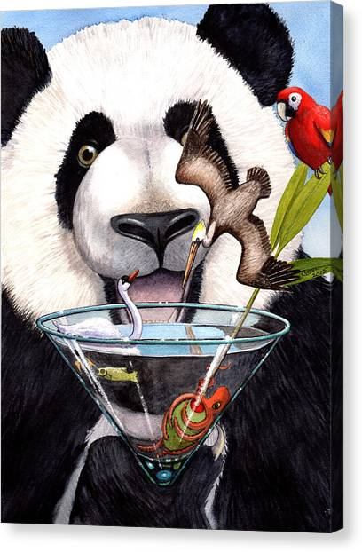 Parrot Fish Canvas Print - Party Panda by Catherine G McElroy
