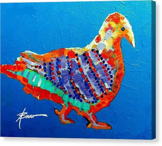 Party Pigeon Canvas Print