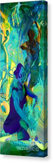 Pas De Deux Canvas Print by Anne Weirich