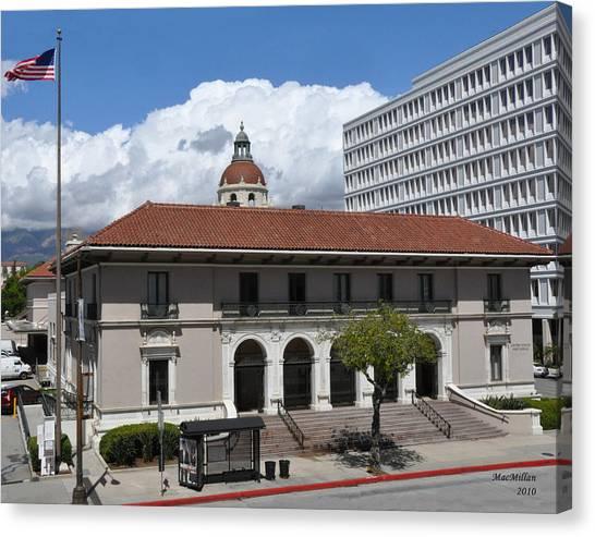 Pasadena's Plaza Station Post Office Canvas Print