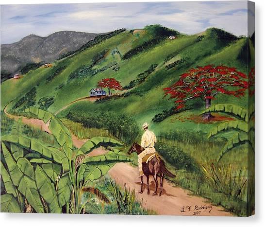 Paseo Por El Campo Canvas Print
