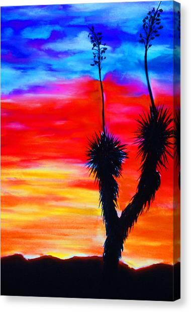 Paso Del Norte Sunset 1 Canvas Print