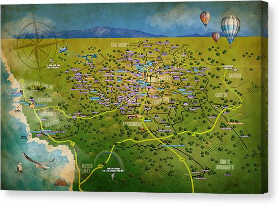 Paso Robles East Side / West Side Wine Tasting Canvas Print