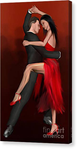 Indoors Canvas Print - Pasodoble by John Edwards
