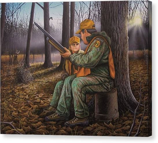 Pass It On - Hunting Canvas Print