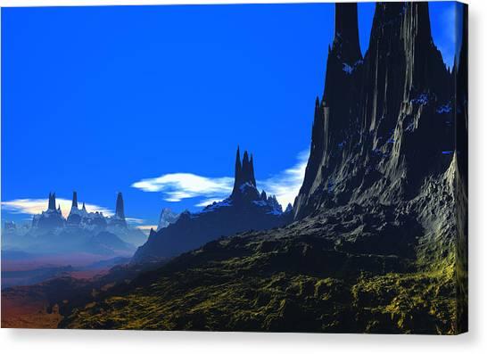 Pass Of Gormok Canvas Print by David Jackson