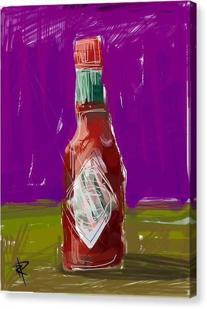 Hot Sauce Canvas Print - Pass The Hot Sauce by Russell Pierce
