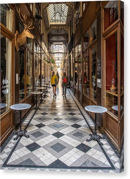 Passage Du Grand Cerf Canvas Print