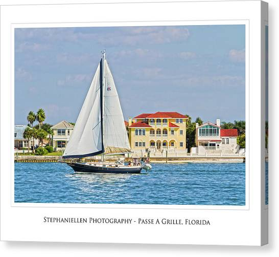 Passe A Grille Sailboat Canvas Print