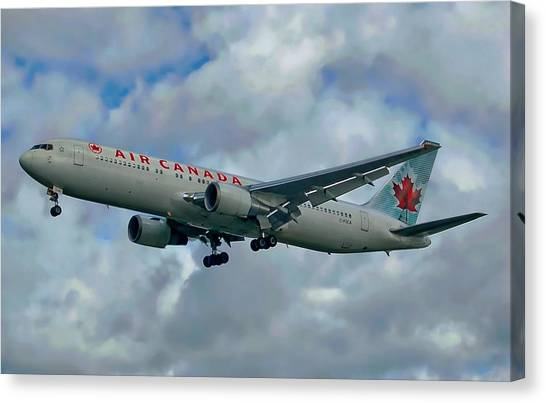 Passenger Jet Plane Canvas Print