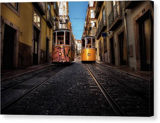 Light Rail Canvas Print - Passing By by Jorge Maia