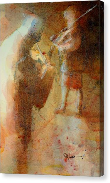 Fiddling Canvas Print - Passing It On by Robert Yonke