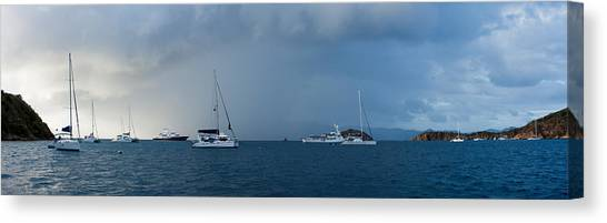 Catamarans Canvas Print - Passing Storm by Adam Romanowicz