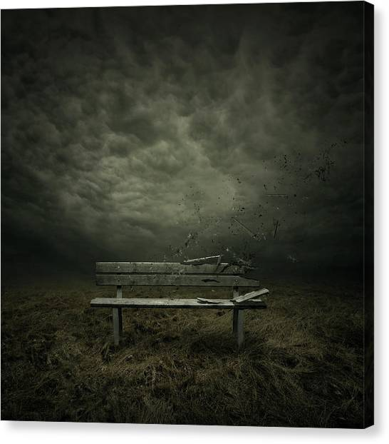 Storm Clouds Canvas Print - Passing by Zoltan Toth
