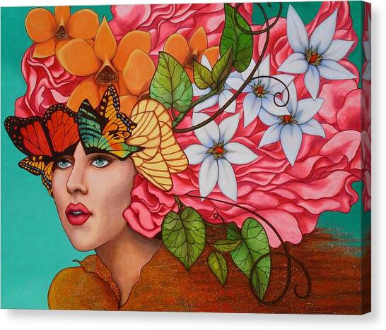 Lady Canvas Print - Passionate Pursuit by Helena Rose