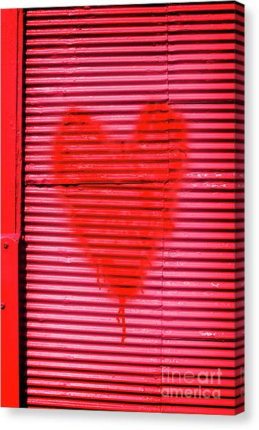 Heart Shape Canvas Print - Passionate Red Heart For A Valentine Love by Jorgo Photography - Wall Art Gallery