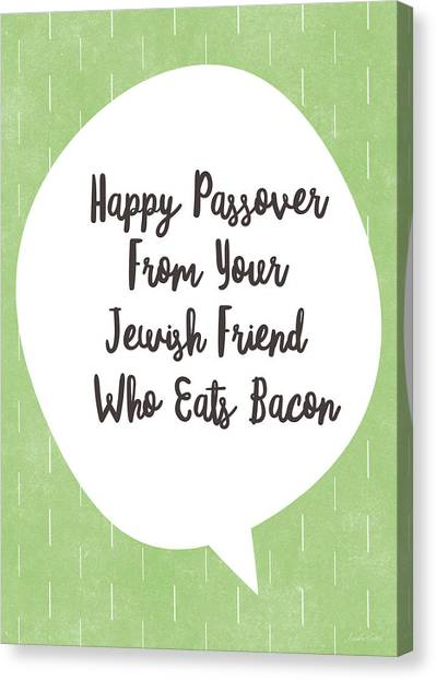 Bacon Canvas Print - Passover Bacon- Art By Linda Woods by Linda Woods