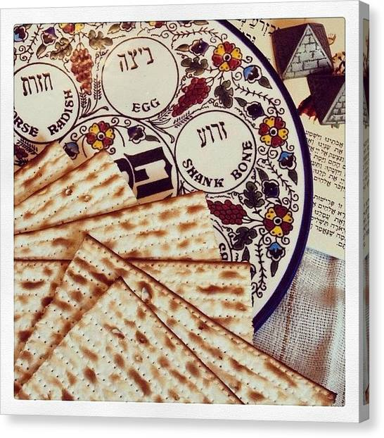 Judaism Canvas Print - #passover #pessach #פסח #judaism by Howard Brodsly