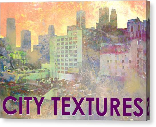 Pastel City Textures Canvas Print