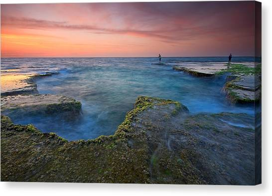 Israeli Canvas Print - Pastel Colors by Amnon Eichelberg