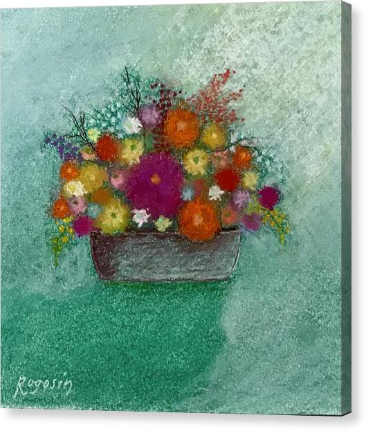 Pastel Flowers Canvas Print by Harvey Rogosin