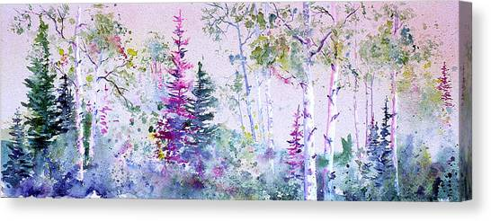 Pastel Forest Canvas Print