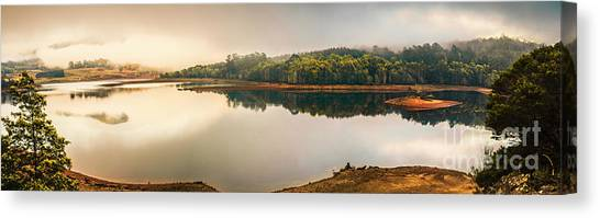Cloud Forests Canvas Print - Pastel Lake Panorama by Jorgo Photography - Wall Art Gallery