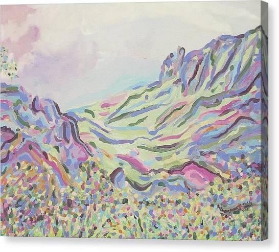 Pastel Landscape Canvas Print by Suzanne  Marie Leclair