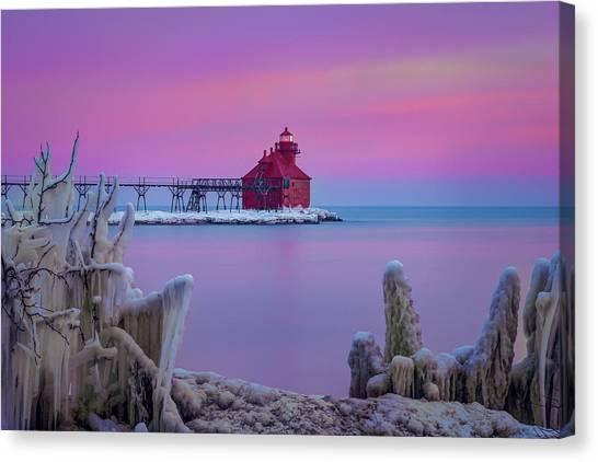 Pastel Lighthouse Canvas Print