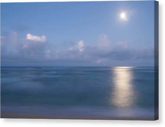 Pastel Moonset Canvas Print