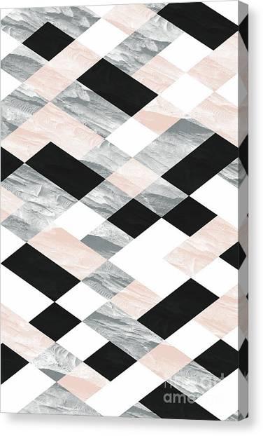 Pastel Scheme Geometry Canvas Print