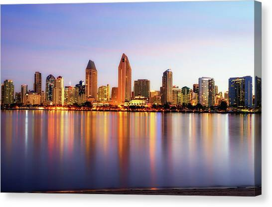 Pastel Skyline Canvas Print