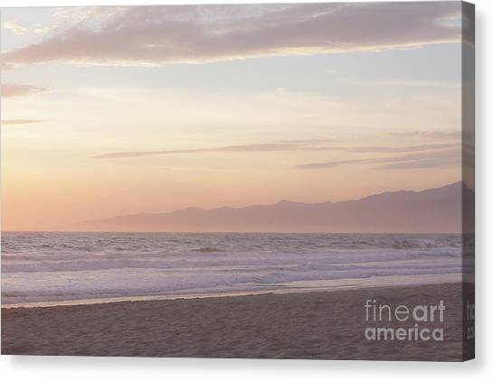 Venice Beach Canvas Print - Pastel Sunset by Ana V Ramirez