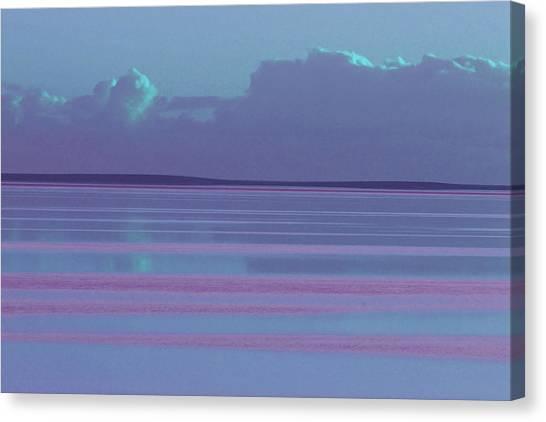 Pastel Sunset Sea Lilac Canvas Print