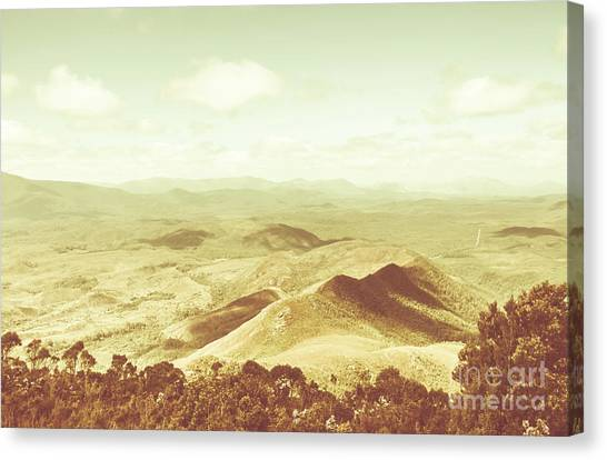 Mountainscape Canvas Print - Pastel Tone Mountains by Jorgo Photography - Wall Art Gallery