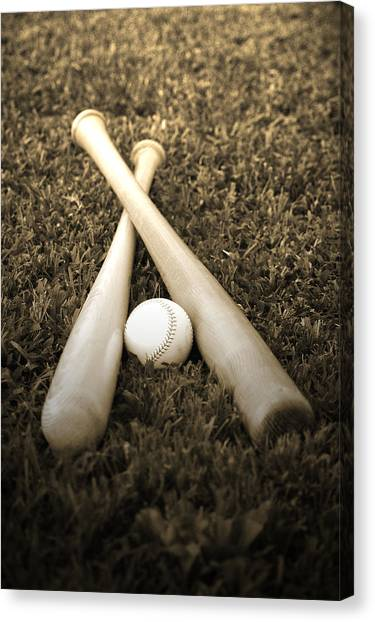 Baseball Canvas Print - Pastime by Shawn Wood