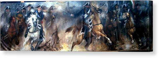 Pastrengo - The Charge II Canvas Print by Elisabeth Nussy Denzler von Botha