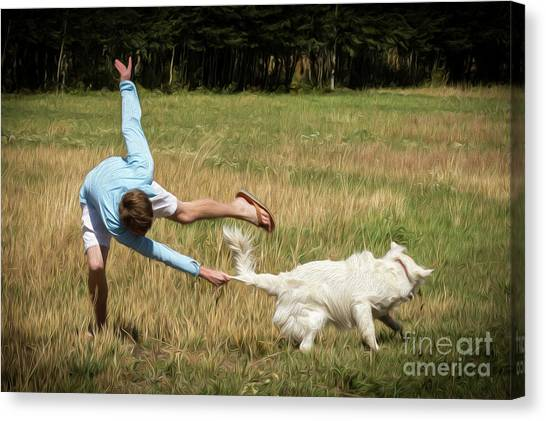 Pasture Ballet Human Interest Art By Kaylyn Franks   Canvas Print