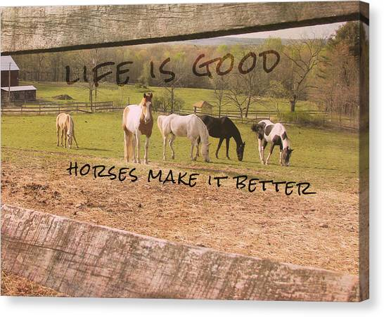 Pasture Friends Quote Canvas Print