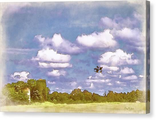 Canvas Print featuring the digital art Pastureland by Barry Jones