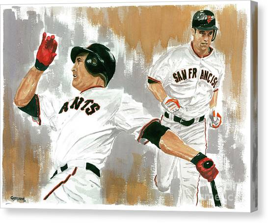 University Of Miami Canvas Print - Pat Burrell Study 1 by George  Brooks