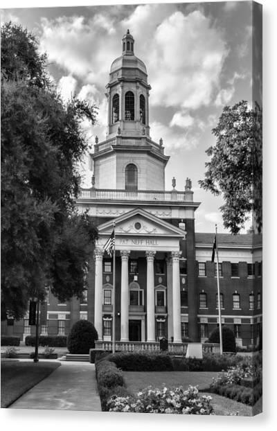 Baylor University Canvas Print - Pat Neff Hall - Baylor #2 by Stephen Stookey