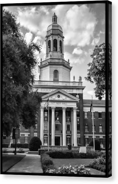 Baylor University Canvas Print - Pat Neff Hall - Baylor #3 by Stephen Stookey