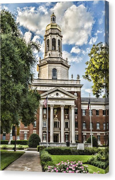 Big Xii Canvas Print - Pat Neff Hall - Baylor #4 by Stephen Stookey