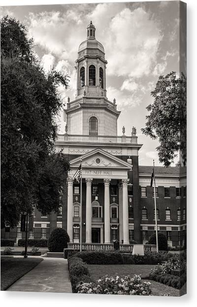 Big Xii Canvas Print - Pat Neff Hall - Baylor #5 by Stephen Stookey