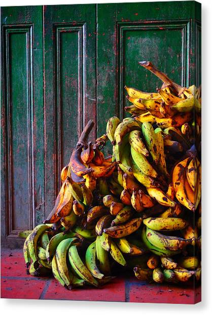 Market Canvas Print - Patacon by Skip Hunt