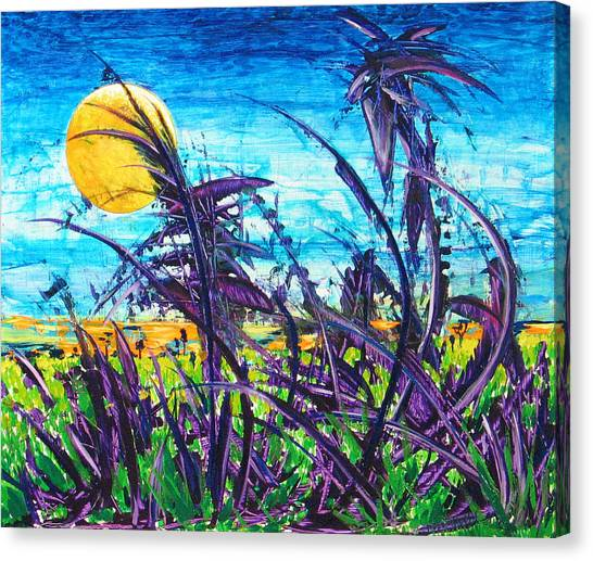Patch Of Field Grass Canvas Print by Rollin Kocsis