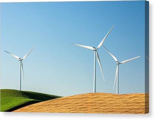Clean Energy Canvas Print - Patchwork And Wind by Todd Klassy